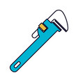 color sections silhouette of pipe wrench vector image vector image