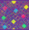 colorful seamless pattern on violet background vector image vector image