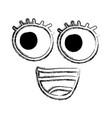 comic face kawaii styke vector image