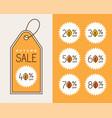creative autumn sale tag design vector image