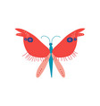 cute colorful butterfly insect top view vector image vector image