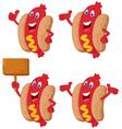 Cute sausage cartoon vector image vector image