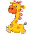 Cute Toy Giraffe Cartoon vector image vector image