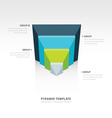 design pyramid infographic template 4 color vector image vector image