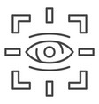 detect eye icon outline style vector image vector image
