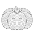 entangle stylized autumn pumpkin for thanksgiving vector image