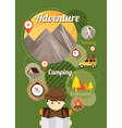 explorer camping icons background vector image vector image