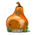fairy house in the shape of a pear isolated on a vector image