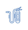 fire extinguisher line icon concept fire vector image vector image
