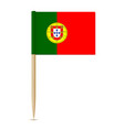 flag of portugal toothpick vector image