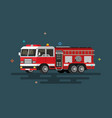 flat fire engine vector image vector image