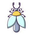 flying bug icon cartoon style vector image vector image