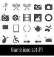 frame icon set 1 gray icons on white background vector image vector image