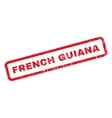 French Guiana Rubber Stamp vector image vector image