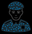 glowing mesh carcass sheriff with light spots vector image vector image