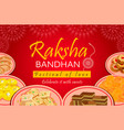 greeting card on occasion rakhi festival vector image vector image
