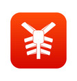 human thorax icon digital red vector image vector image