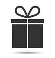 icon gift box present vector image vector image