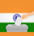 india election banner background vector image vector image