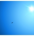 little plane flying to sun vector image vector image
