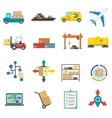 Logistics Flat Icons Set vector image vector image