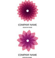 logo floral for yoga vector image
