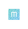 m maze letter logo icon design vector image
