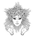 madonna lady sorrow devotion to the vector image