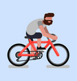 man rides a bicycle vector image