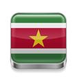 Metal icon of Suriname vector image
