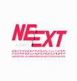 modern font design with some alternate letters vector image vector image