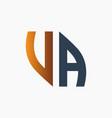 modern va letter monogram logo vector image