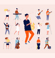 music persons rock classical musical performing vector image