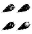 outline sport grunge balls vector image