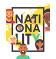 poster with people different nationalities vector image