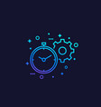 productivity linear icon vector image vector image