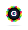Retro bright colors Logotype Letter G vector image vector image