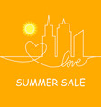 retro summer sale of abstract vector image