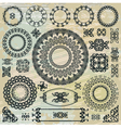 round floral pattern elements collection vector image vector image
