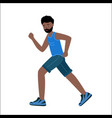 running man african runner isolated on a white vector image