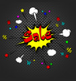 sale pop art retro style vector image vector image