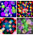 Set of 4 seamless patterns with Boke effect vector image