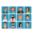 Set of avatar icons Business cartoon concept vector image vector image