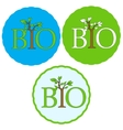 Set of bio icons vector image vector image