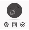 Shovel icon Garden equipment sign vector image vector image