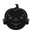 Son icon in black style isolated on white vector image vector image
