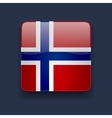 Square icon with flag of Norway vector image