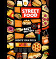 street food and fastfood delivery service vector image vector image
