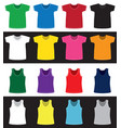 t-shirts and shirts different colors without vector image vector image