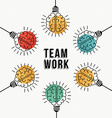 Teamwork business concept of modern human brains vector image vector image